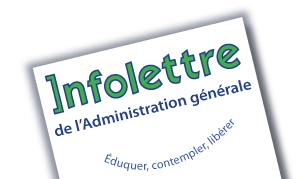 Inauguration de l'Infolettre de l'Administration générale SNJM