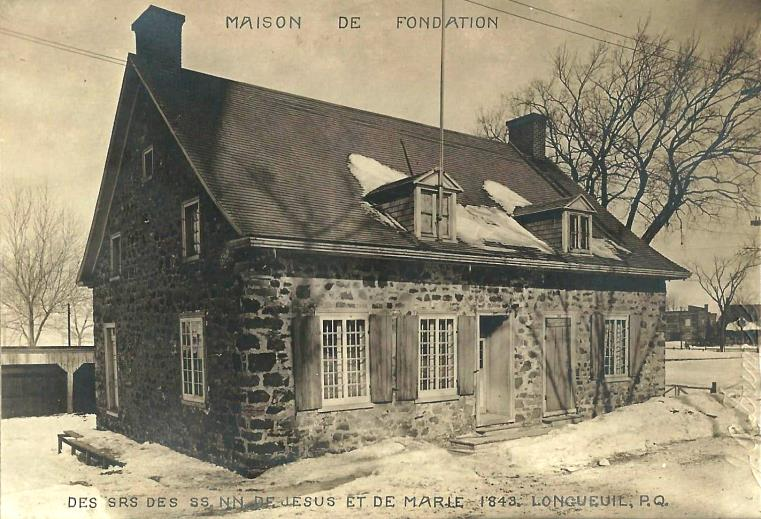 August 9, 1844, the community leaves the Foundation House for the Convent of Longueuil